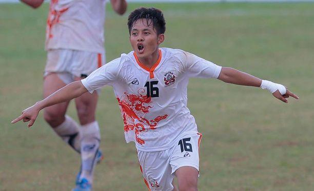 Tshering Dorji tuuletti villisti ottelun voittomaalia.