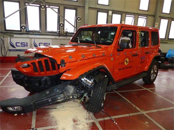 Täysin uusi Jeep kompastui puuttuvaan hätäjarrutus- ja kaistavahtijärjestelmään.