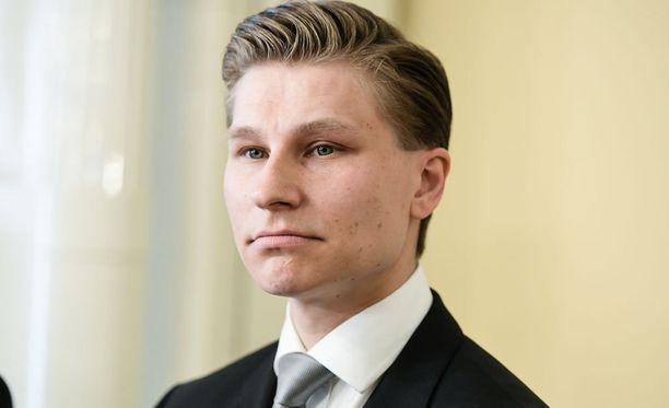 Oikeusministeri Antti Häkkänen puhui oikeusvaltiokehityksestä EU-tuomioistuimen tuomareille Helsingissä Säätytalolla.
