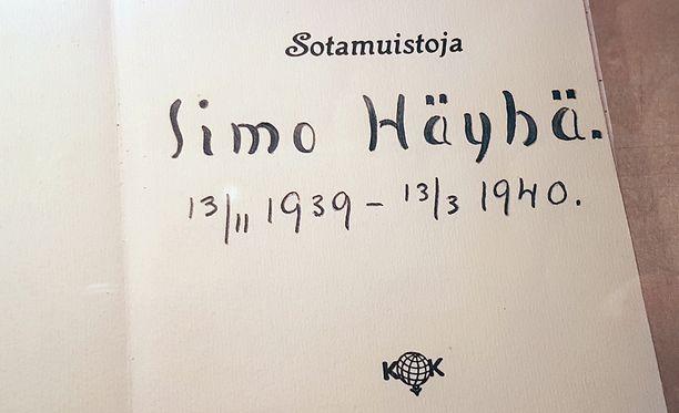 Simo Häyhän omin käsin kirjoittama talvisodan aikainen päiväkirja löytyi tänä vuonna sukulaisten laatikoista.