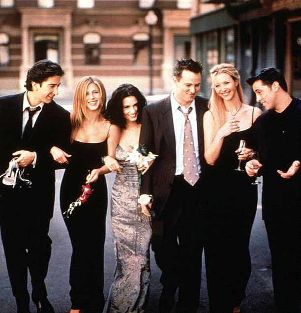 Frendit on yksi kaikkien aikojen suosituimista sitcomeista. Kuvassa vasemmalta David Schwimmer, Jennifer Aniston, Courteney Cox, Matthew Perry, Lisa Kudrow ja Matt LeBlanc.