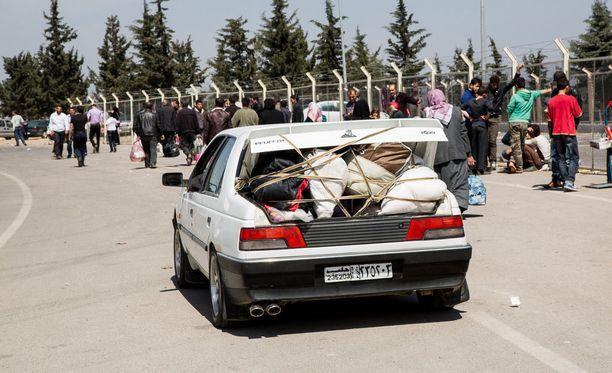 Turkin ja Syyrian välistä rajaseutua, jossa viranomainen pysäytti epäillyt. Arkistokuva.