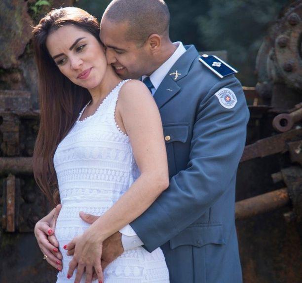 Morsian Jessica Guedes oli 29. viikolla raskaana.