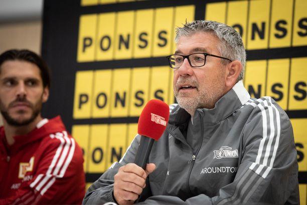 Union Berlinin päävalmentaja Urs Ficsher valmensi joukkueensa Bundesliigassa seitsemänneksi.