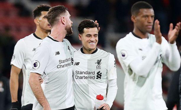 Liverpool-pelureilla oli hymy herkässä matsin jälkeen.