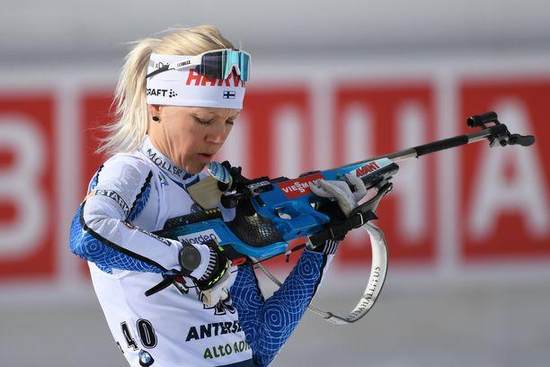 Kaisa Mäkäräisen haasteet Antholzissa kulminoituivat ammuntapenkalle.