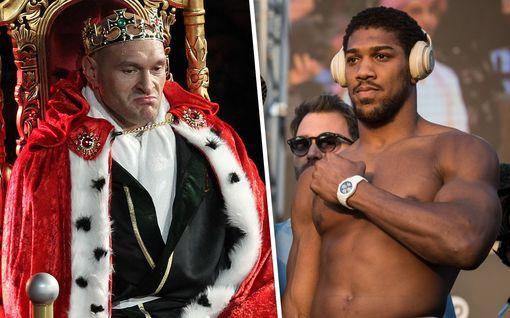 """Anthony Joshua heittää löylyä Tyson Furyn suuntaan: """"Mikä ihmisten mielestä tekee Furysta niin pelottavan?"""""""