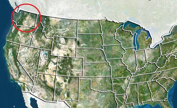 Kuolemantapaus sattui Washingtonin osavaltiossa Yhdysvaltain luoteisosassa.