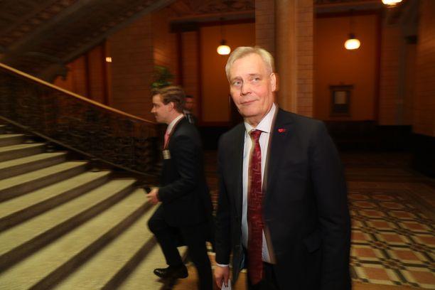 Hallitusneuvotteluja vetää SDP:n puheenjohtaja Antti Rinne.