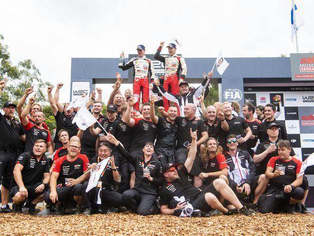 Jari-Matti Latvala ja Miikka Anttila pääsivät juhlimaan kauden ensimmäistä voittoaan. Tiedossa oli tuplajuhlat, sillä Toyota varmisti samalla valmistajien maailmanmestaruuden.