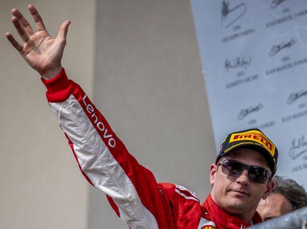 Kimi Räikkönen pääsi sunnuntaina tuulettamaan uransa 21. GP-voittoa.