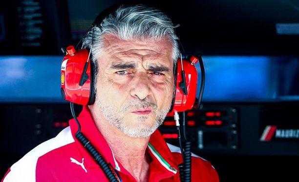 Maurizio Arrivabenen Ferrari jahtaa jälleen voittoa viikonloppuna Shanghaissa.