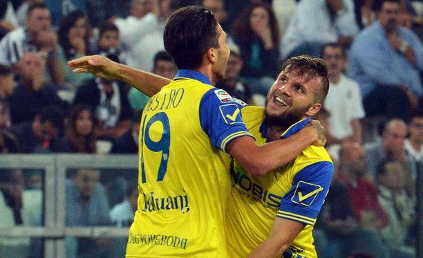 Perparim Hetemaj (oik.) onnistui viime lauantaina maalinteossa Juventusta vastaan.