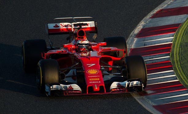 Kimi Räikkösen vauhti Circuit de Catalunyalla oli lupaavaa.