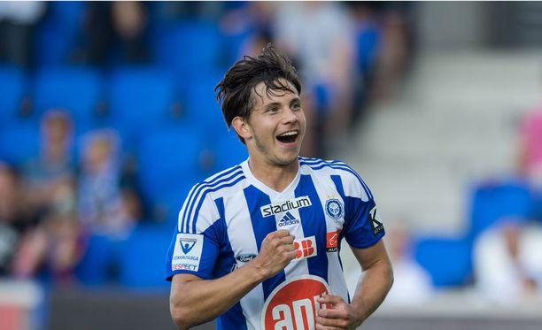 Sebastian Dahlström ampui kaksi maalia.