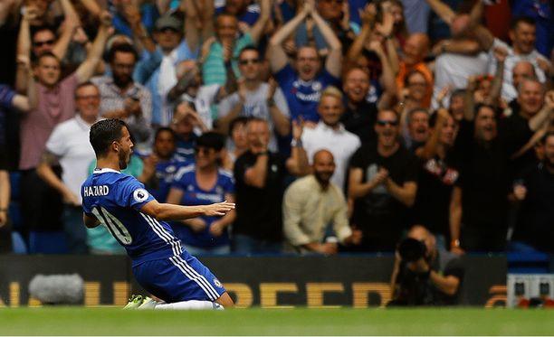 Eden Hazard teki voittomaalin Burnleyn verkkoon.