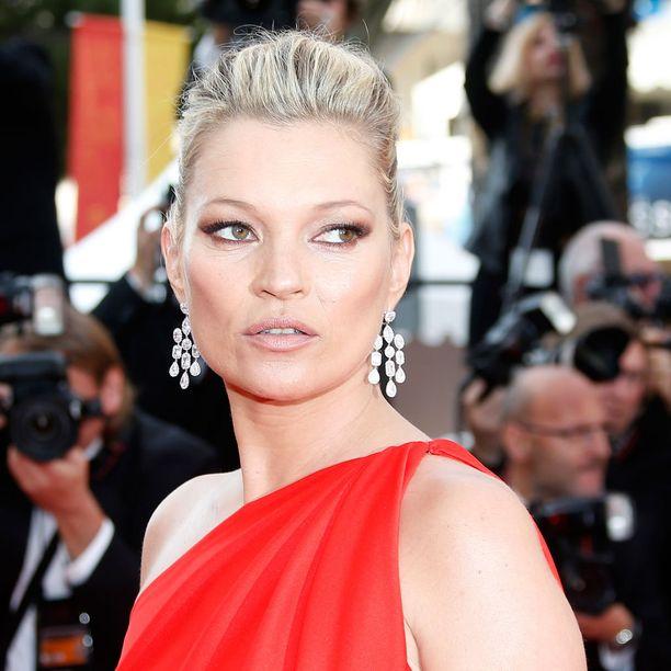 Huippumalli Kate Moss pääsi pronssisijalle.