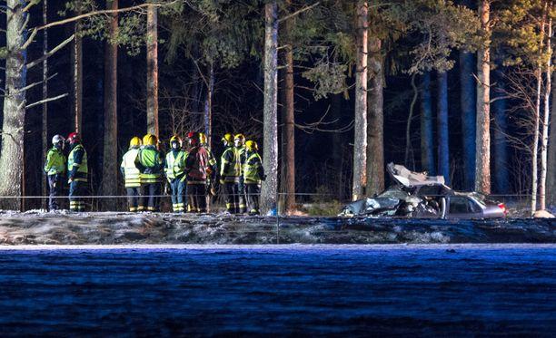 Onnettomuus tapahtui Liikkalantiellä Kouvolassa.