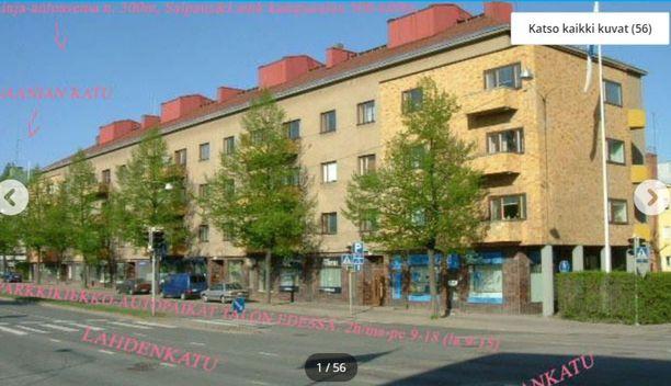 Vuokralle tarjottu yksiö sijaitsee Lahden keskustan tuntumassa ja sen vuokrapyyntö on 370 euroa kuukaudessa, jos vuokralainen ei saa asumistukea. Vuokran suuruus muuttuu kuitenkin sen mukaan, paljon asumistukea vuokralainen saa.
