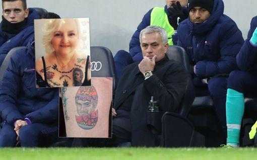 62-vuotias isoäiti otti 38 tatuointia José Mourinhosta – tuoreimmassa todella kiusallinen moka
