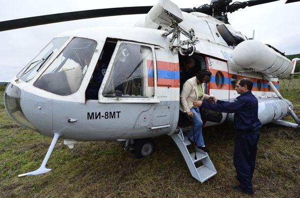 Mi 8 -helikoptereita käytetään myös siviilitoiminnassa. Arkistokuva.