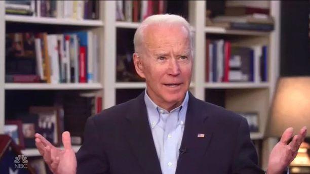 Joe Biden on esiintynyt koronaviruskriisin aikana harvakseltaan lähinnä etäyhteydellä omasta kodistaan.