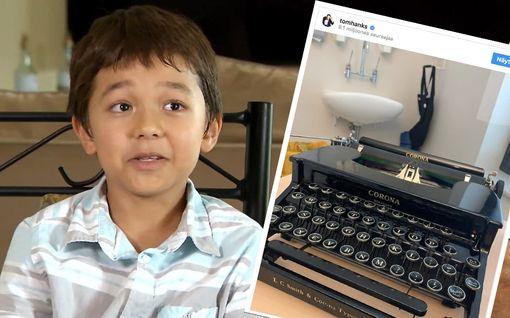 Corona-niminen poika joutui kiusatuksi - Tom Hanks lahjoitti Corona-kirjoituskoneen