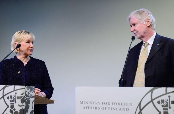 Ruotsin ulkoministeri Margot Wallström vierailee Suomessa.