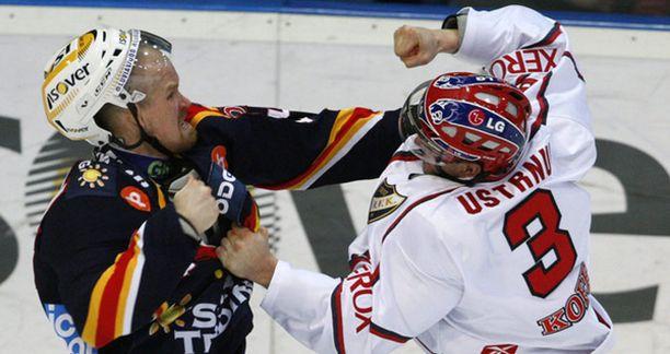 Sami Helenius (vas.) tappeli tällä kaudella jo viidennen kerran.