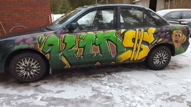 Auton maalaukset tehtiin yhdessä yössä tammikuun loppupuolella.
