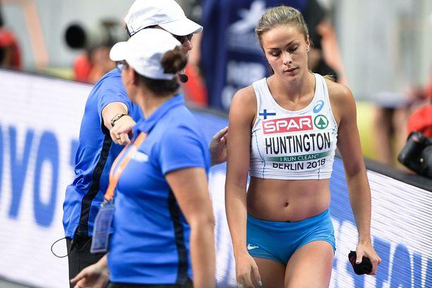 Maria Huntington otteli huikean pistemäärän Kalevan kisojen seitsenottelussa.