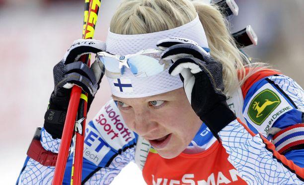 Kaisa Mäkäräiseltä vaaditaan näyttöjä, jotta hänet voidaan valita Lahden MM-hiihtoihin.