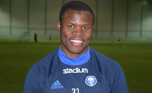Taye Taiwo täräytti HJK:n voittomaalin.