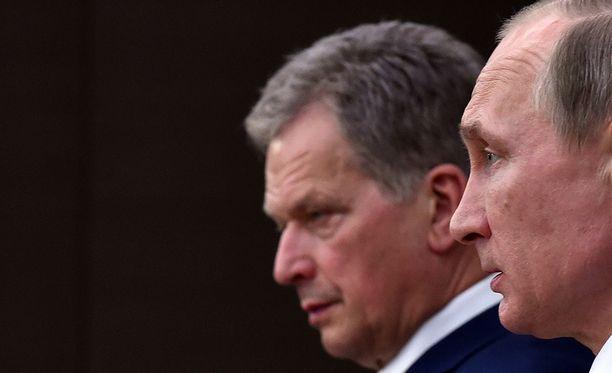 Sauli Niinistön ja Vladimir Putinin verrattain hyvät välit on huomioitu myös Suomen rajojen ulkopuolella.