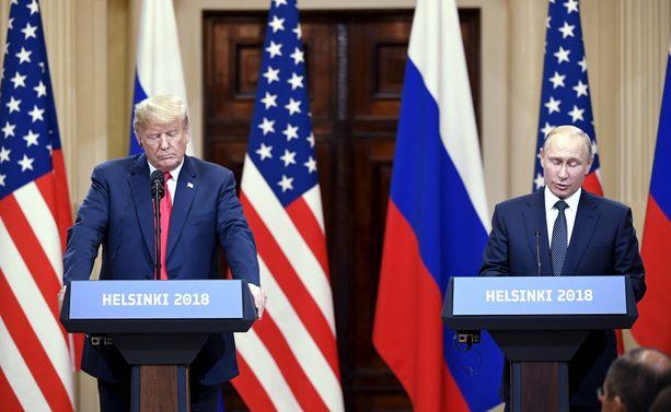 Presidentti Trump ja Venäjän presidentti Vladimir Putin tapasivat Helsingissä 16.7.2018.