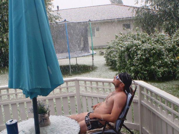 Kesäkuussa 2014 Oulussa nautittiin rapsakasta säästä.