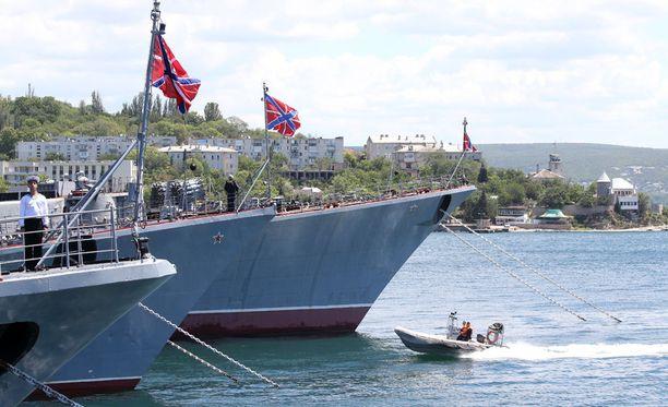 Venäjän ulkominiisteriön edustaja Marija Zaharova sanoi, ettei Venäjä aio palauttaa Krimiä Ukrainalle. Arkistokuva Sevastopolin laivastotukikohdasta.