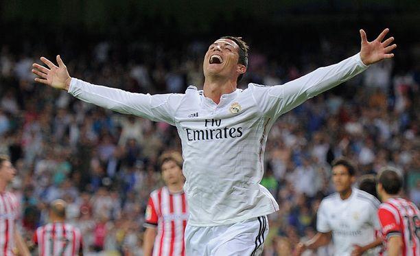Cristiano Ronaldo johdatti eilen Real Madridin 5-0-voittoon Athletic Bilbaosta.