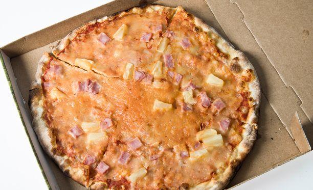 Kuvan pizza ei liity tapaukseen.
