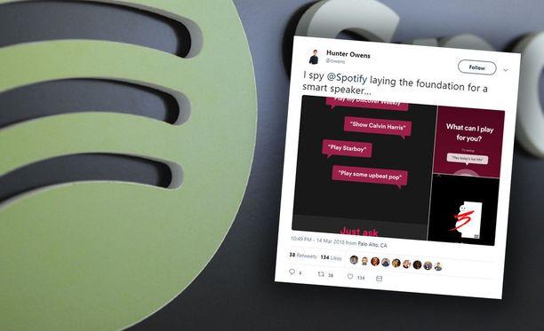 Spotify testaa äänikomentoja sovelluksessaan.