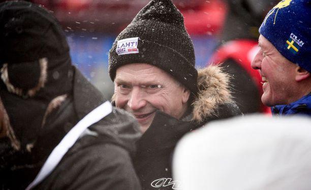 Presidentti Sauli Niinistö lähetti Kaisa Mäkäräiselle kannustusviestin.