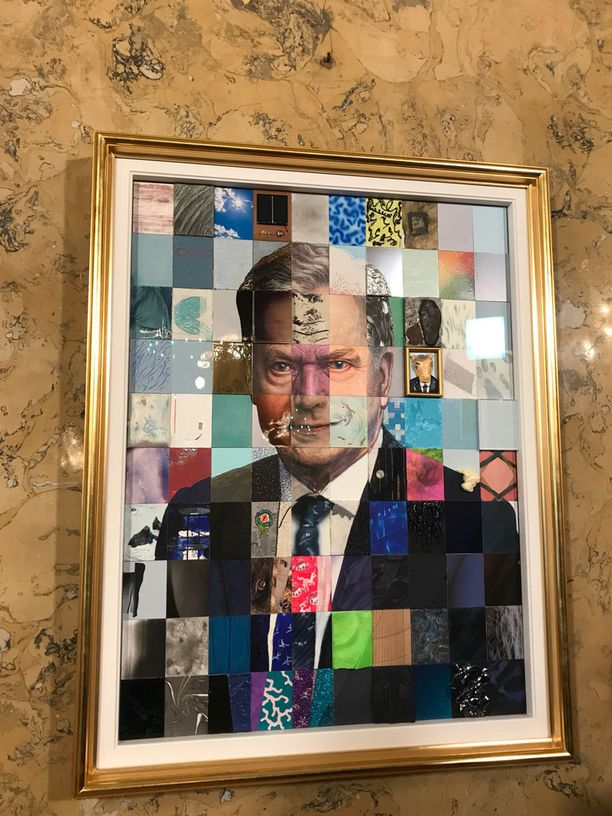 Tasavallan presidentti Niinistön muotokuvan tekijöiksi valittiin erityisesti nuoremman polven taiteilijoita.