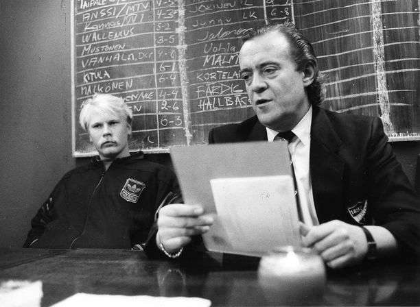 Ari Lähteenmäki (vasemmalla) ja Frank Moberg
