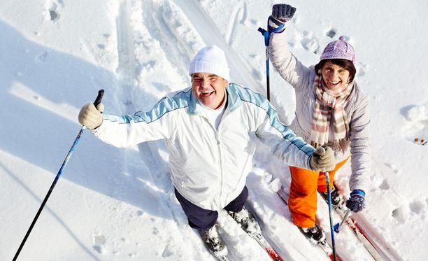 Hoikat eivät keksi tekosyitä vaan lähtevät jouluna hiihtoladuille.
