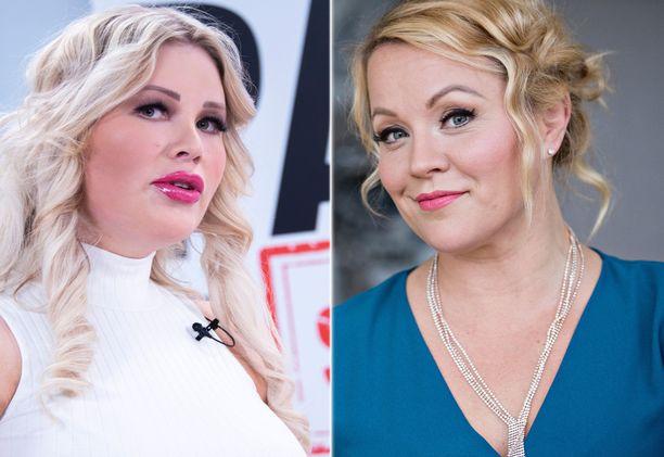 Heidi Pakarisen ja transmalli Elenan keskustelu sai oudon sävyn.