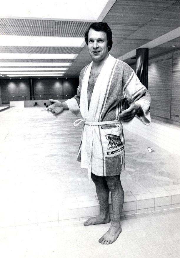 Eduskunnan saunassa 1978.