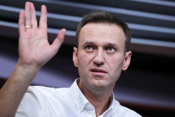 Aleksei Navalnyi Eho Moskvy -radioaseman haastattelussa lokakuussa.