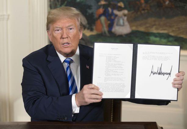 Trump on kritisoinut kovin sanoin Irania koko presidenttikautensa ajan.