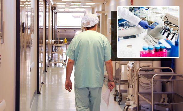 Lähihoitaja kertoo nauhoitteella käyttävänsä aina paksuinta neulaa, kun hän ottaa verinäytteitä maahanmuuttajilta. Kuvituskuva.