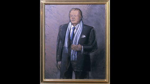 Martti Ahtisaaren muotokuva oli perinteisempi.